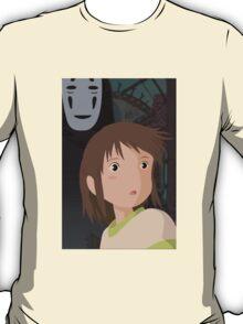 """Don't be such a scaredy cat, Chihiro"" - Spirited Away Art T-Shirt"