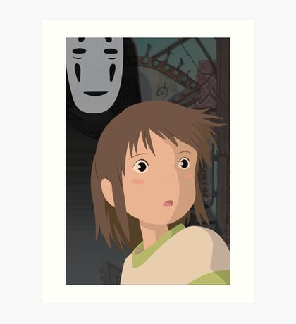 """Don't be such a scaredy cat, Chihiro"" - Spirited Away Art Art Print"