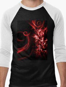 Red Abstract  Men's Baseball ¾ T-Shirt