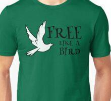 free like a bird freedom lynyrd skynyrd rock inspirational lyrics hippie peace t shirts Unisex T-Shirt