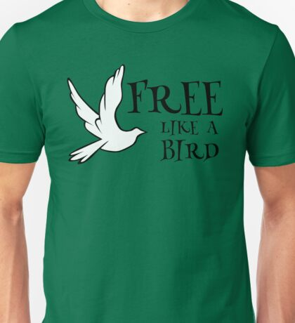 free like a bird freedom lynyrd skynyrd rock inspirational lyrics hippie peace t shirts Unisex T-Shirt