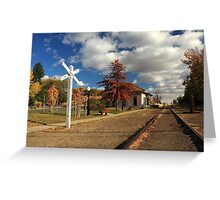 The Susanville Train Depot Greeting Card