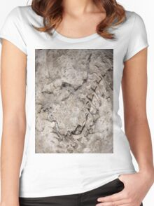 ZOMBIE SKIN (Damaged) Women's Fitted Scoop T-Shirt