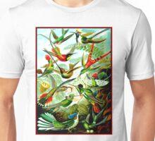 HUMMINGBIRDS; Vintage Art Print Unisex T-Shirt