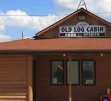 Route 66 - Old Log Cabin Sticker