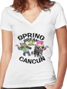 [VINTAGE] Spring Break 2003 Women's Fitted V-Neck T-Shirt