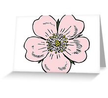 pink wild rose female girl woman flower cute beautiful hippie retro vintage t shrits Greeting Card