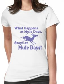 Mule Day Womens Fitted T-Shirt