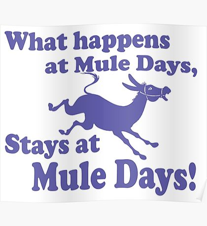 Mule Day Poster