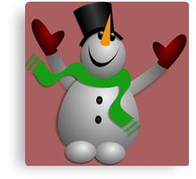A Happy Snowman Canvas Print