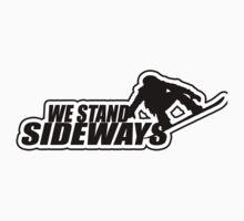 We Stand Sideways - Black One Piece - Short Sleeve