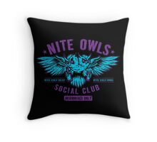 Nite Owls Social Club Throw Pillow