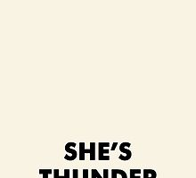 She's Thunderstorms by esmeopp