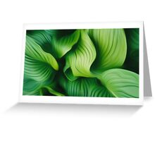 Leafs abstract Greeting Card