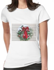 Wreath Womens Fitted T-Shirt