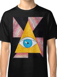 Seeing eye geode / pyramid third eye spiritual consciousness Classic T-Shirt