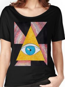 Seeing eye geode / pyramid third eye spiritual consciousness Women's Relaxed Fit T-Shirt