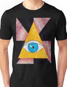 Seeing eye geode / pyramid third eye spiritual consciousness Unisex T-Shirt
