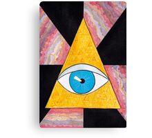 Seeing eye geode / pyramid third eye spiritual consciousness Canvas Print