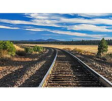 Tracks At Crater Lake Photographic Print