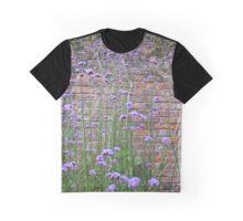 Purple Flower Background Graphic T-Shirt