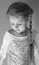 A Pensive Moment In Black And White by Evita
