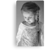 A Pensive Moment In Black And White Canvas Print