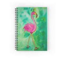 Flamingo mit Krone Spiral Notebook