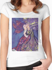 Lovers in the Murder Women's Fitted Scoop T-Shirt