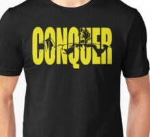 CONQUER. - Saiyan Back Squat ICONIC (Yellow) Unisex T-Shirt