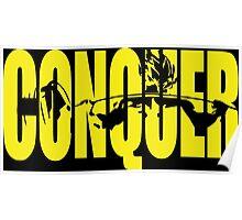 CONQUER. - Saiyan Back Squat ICONIC (Yellow) Poster