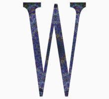 Letter 'W' Purple Mandala 2 Baby Tee