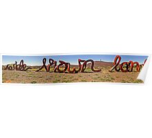 Wide Brown Land Poster