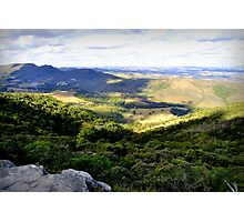 On the top of wild nature with a nice view Photographic Print
