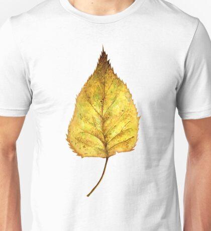 Birch leaf in autumn Unisex T-Shirt