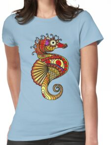 Sea Horse Womens Fitted T-Shirt