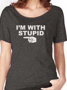 My boyfriend is stupid Women's Relaxed Fit T-Shirt