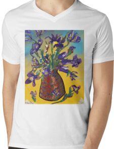 Floodwood Flowers Mens V-Neck T-Shirt