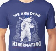 Chicago Cubs World Series Champs Bear Hibernating Unisex T-Shirt