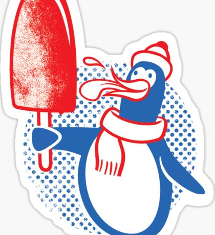 Popsicle Penguin Sticker