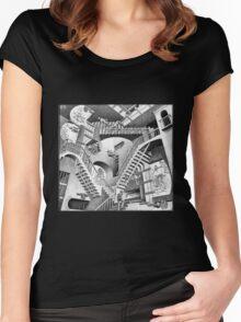 MC Escher Women's Fitted Scoop T-Shirt