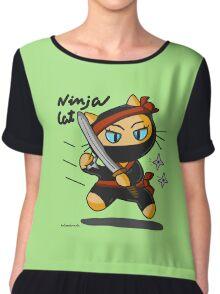 Ninja cat Chiffon Top