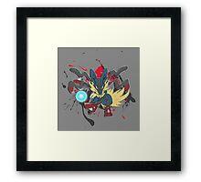 Mega Lucario! Framed Print