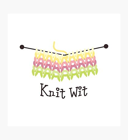 Knit Wit Photographic Print