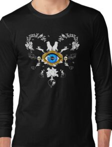 I Dream In Color - White Silhouettes on Black Long Sleeve T-Shirt