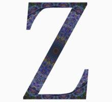 Letter 'Z' Purple Mandala 2 Kids Tee