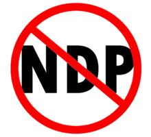 Canada Flag No NDP Rachel Notley Protest  Sticker