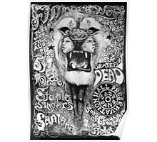 Grateful Dead w/ Steppen Wolf & Santana Gig at Fillmore Poster