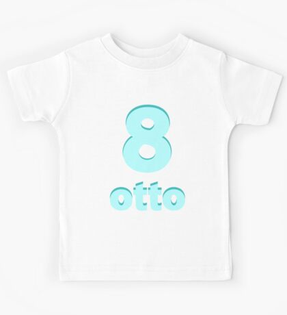 Baby learns Italian - number eight blue Kids Tee
