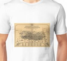 Vintage Pictorial Map of San Francisco (1875) Unisex T-Shirt